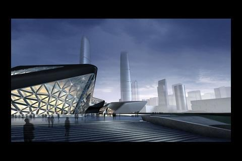 The opera house is just one element in Guangzhou's ambitious masterplan for a new city district